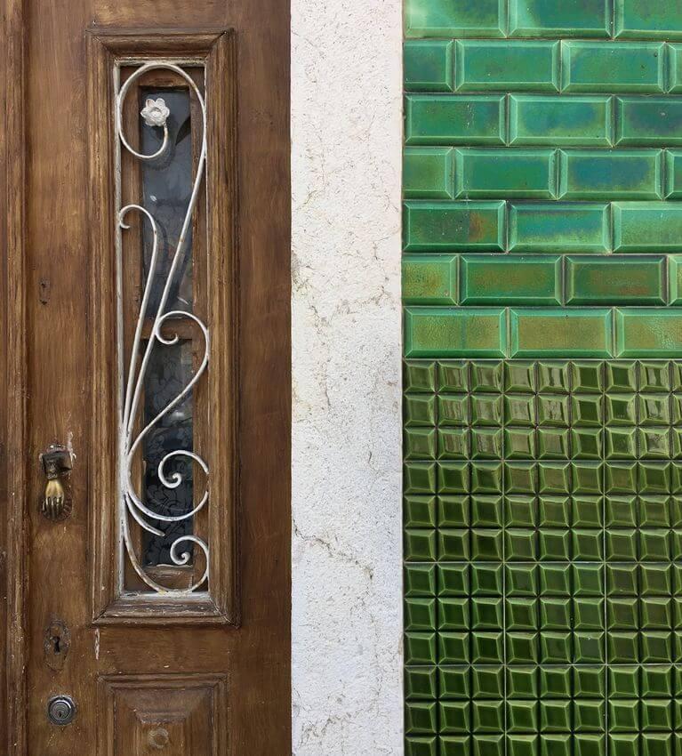 Azulejos Verdes Porta Madeira - Setubal