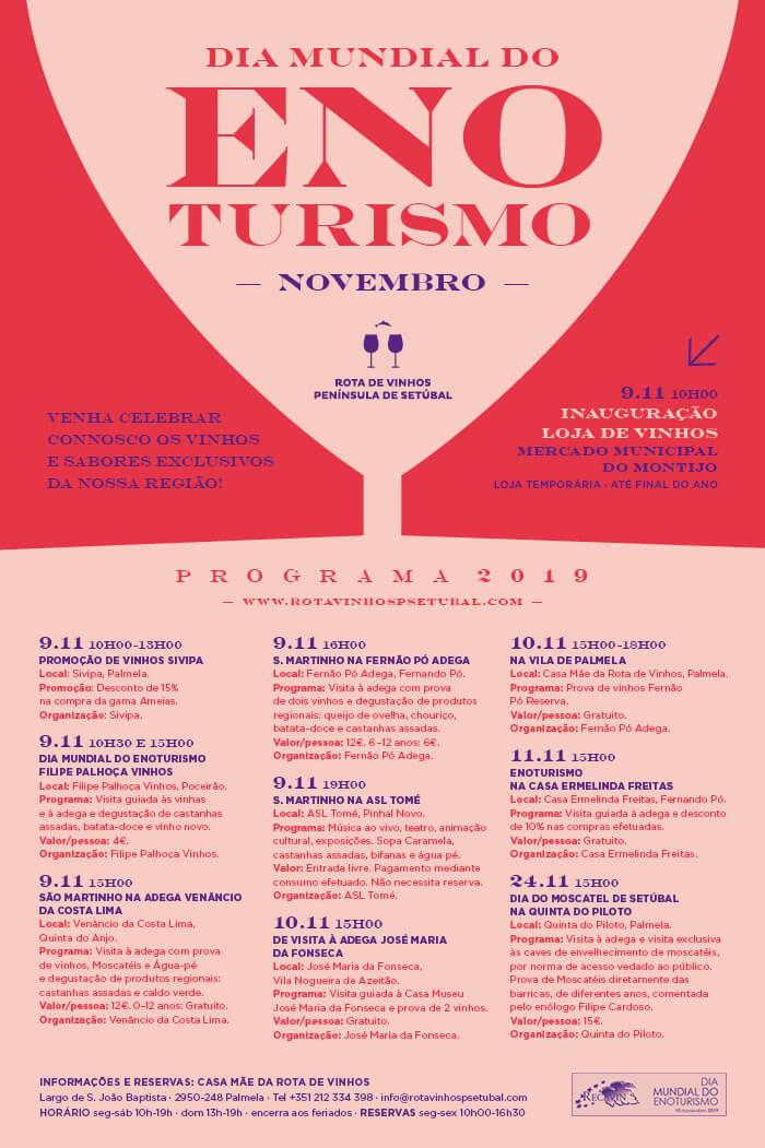 Dia Mundial do Enoturismo - Cartaz Rota dos Vinhos Peninsula Setubal